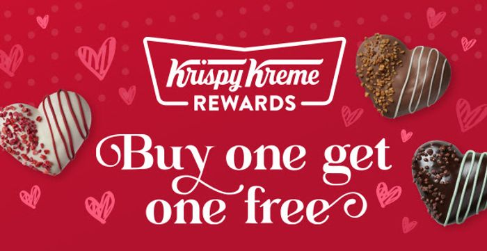 Krispy Kreme Buy One Get One Free on the Valentine's Range for World Nutella Day