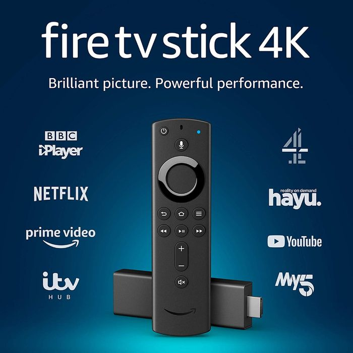 Amazon Fire TV Stick 4K Ultra HD with Alexa Voice Remote Streaming Media Player