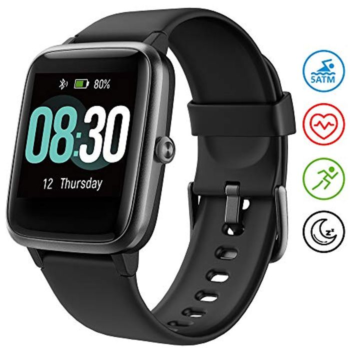 Fitness Smart Watch 1/2 Price - Only £18.49 + Prime Delivery