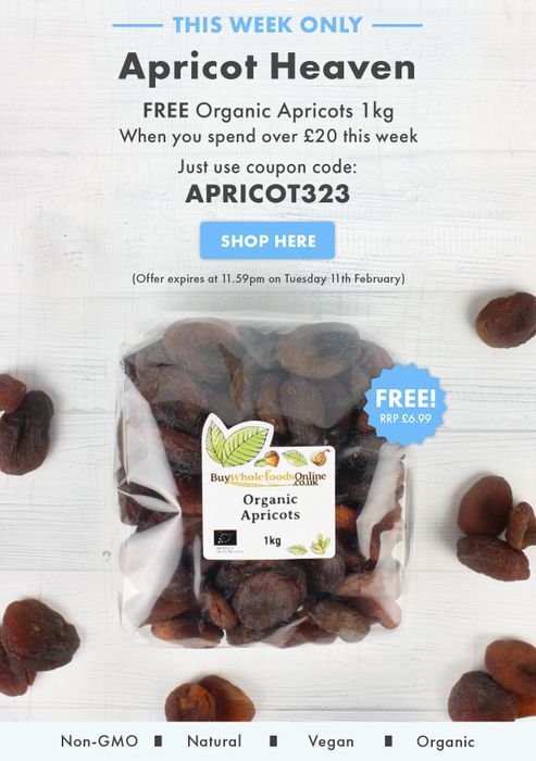 Buy Whole Foods Online - FREE Organic Dried Apricots 1kg! (Min. £20 Spend)