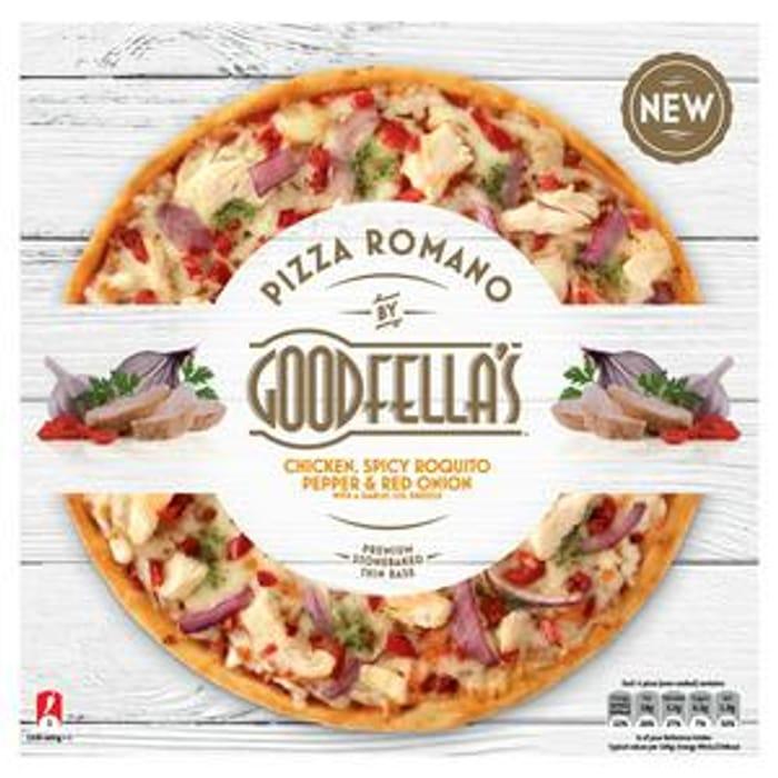 Romano Chicken, Roquito Pepper & Red Onion with a Garlic Oil Drizzle Pizza