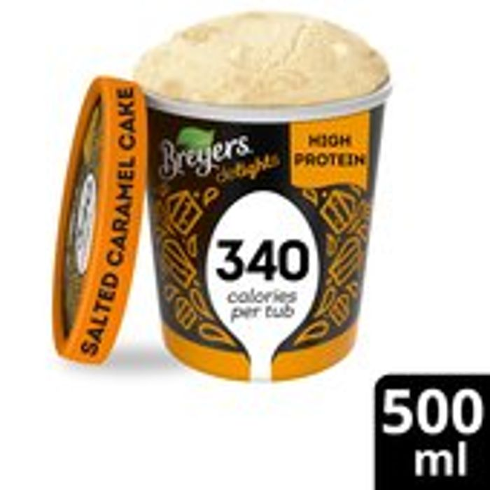 Breyers Delights Salted Caramel Cake Lower Calorie Ice Cream 500ml