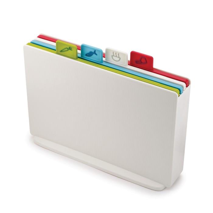 Joseph Joseph - Set of 4 Multi-Coloured 'Index' Regular Chopping Boards