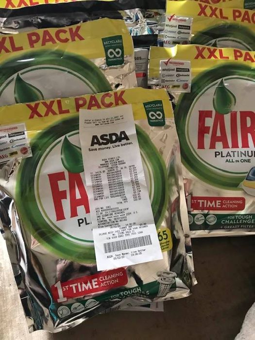 Fairy Xxl Pack Dishwasher 65 Wash