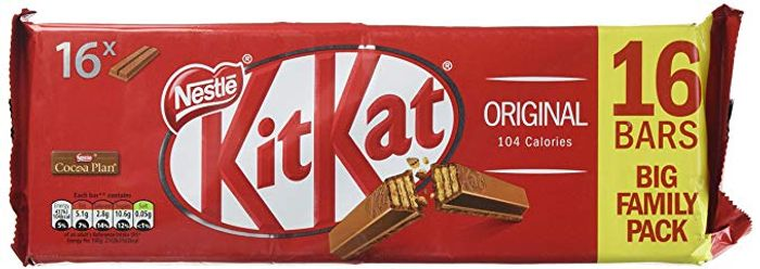 KitKat 2 Finger Milk Chocolate Biscuit Bar, 16 Pack
