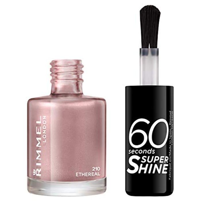 Rimmel 60 Seconds Super Shine Nail Polish - 8 Ml, Ethereal Nude