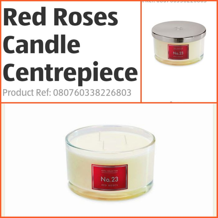 Red Roses Candle Centrepiece at Aldi - Only £9.99!