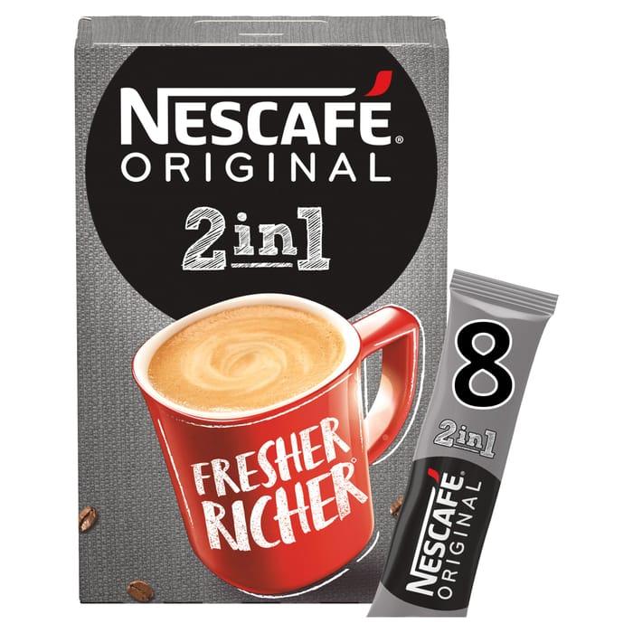 Nescafe Original 2 in 1 8 Pack 80G