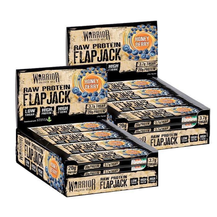 Warrior Raw Protein Flapjack 12 X 75g 2 Box Deal