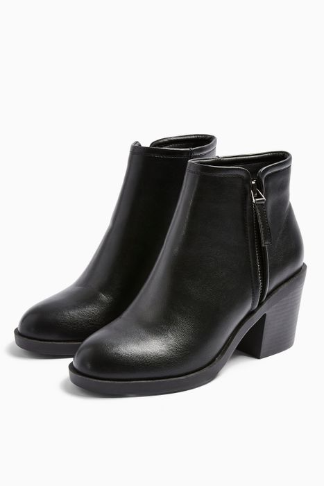BONDI Black Zip Unit Boots Down From £36 to £25