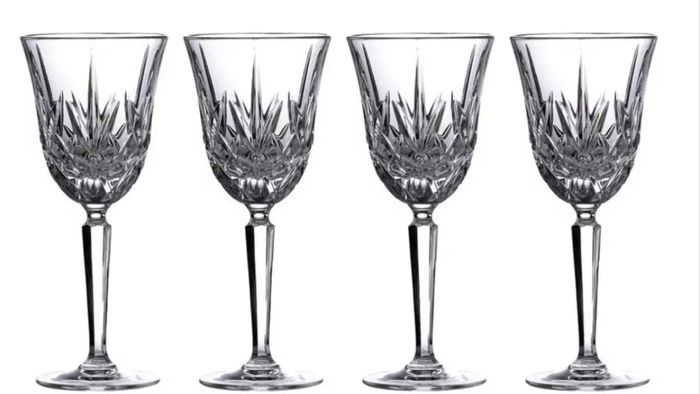 Best Price! Marquis of Waterford Crystal Wine Glasses X4