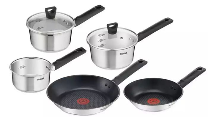 Cheap Tefal 5 Piece Induction Cookware Set on Sale From £140 to £56