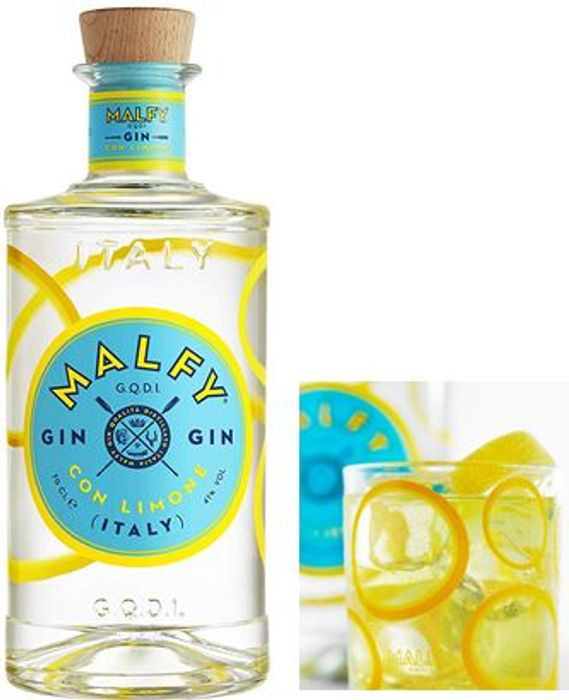 Malfy Con Limone Italian Gin, 70cl (Deliciously Zesty Citrus) FREE DELIVERY