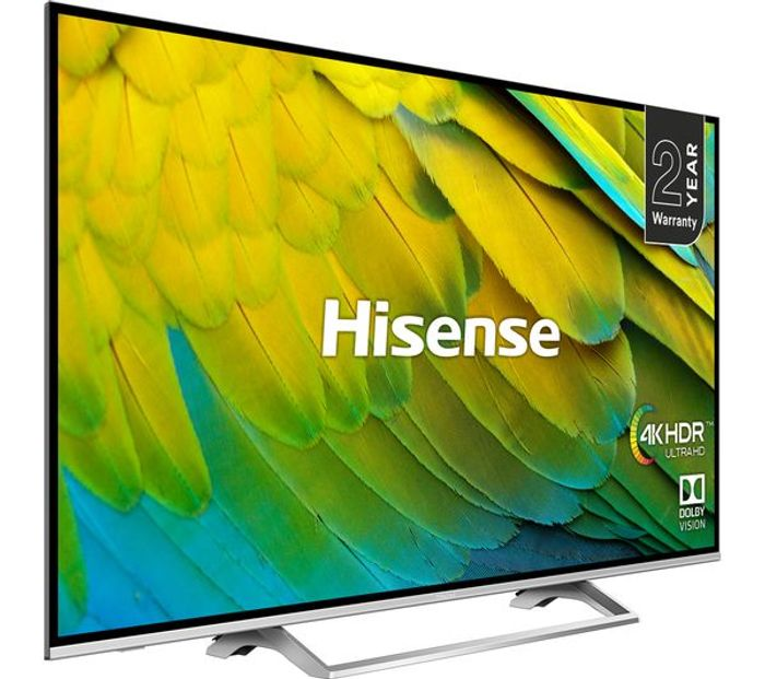 """*SAVE £20* Hisense 50"""" Smart 4K Ultra HD TV with HDR10, Dolby & Freeview Play"""