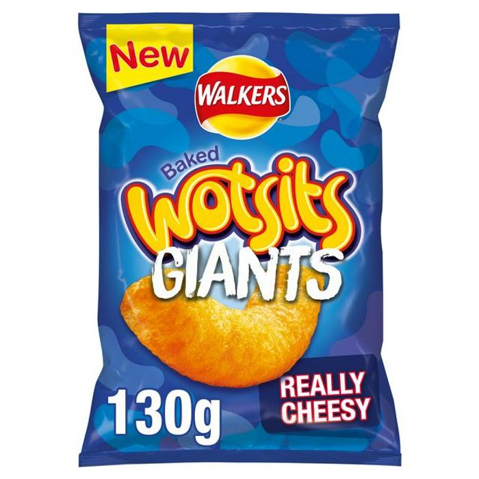 Walkers Wotsits Giants Really Cheesy Snacks 130g