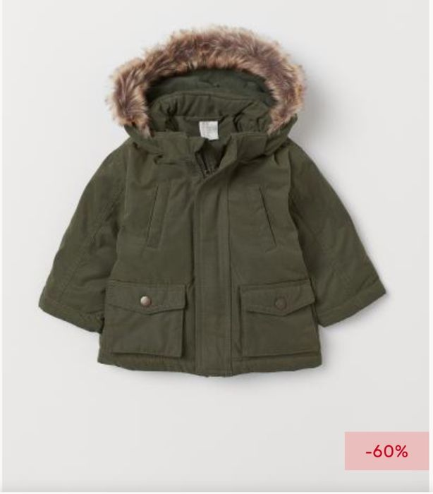 Children's Padded Parka Only £10 at H&M