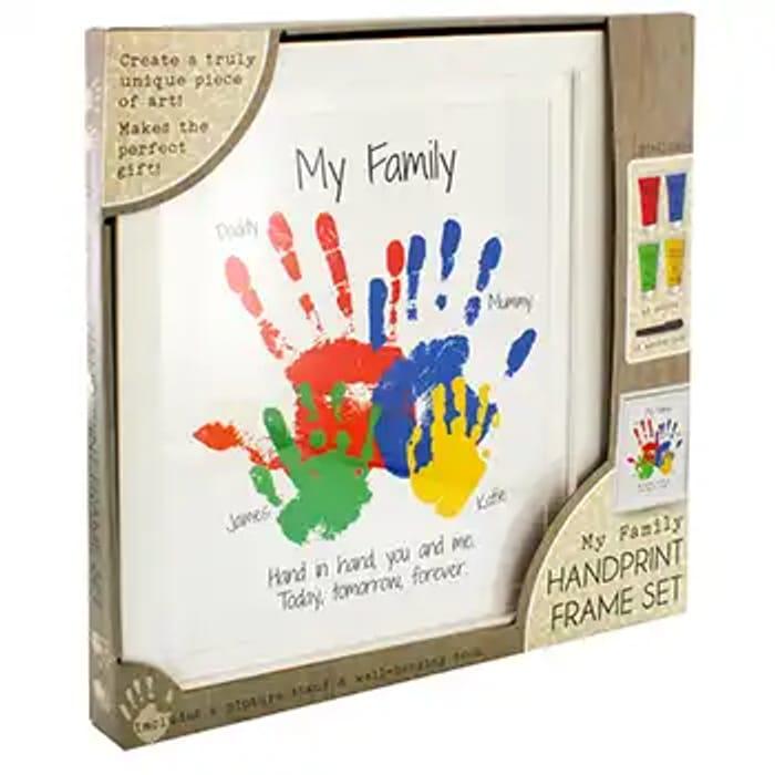 My Family Handprint Frame Set Only £7.5