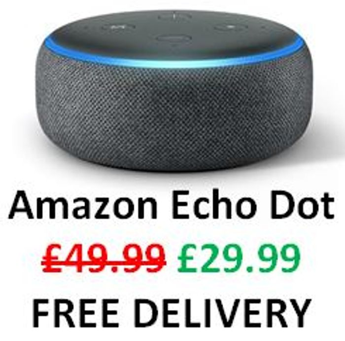 £20 OFF! AMAZON Echo Dot + Free Delivery (All Colours)