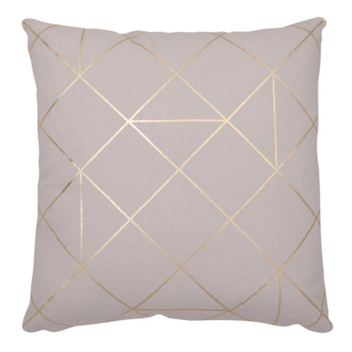 Cheap Panaji Geometric Light Grey Cushion at B&Q, Only £5!