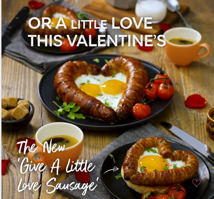 M&S Love Sausage is Back - 1 Big or 2 Small for Valentines Day