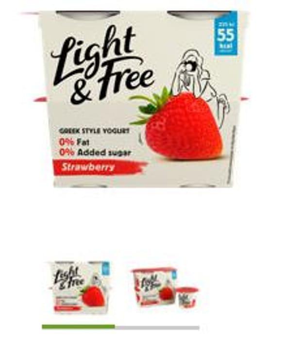 Light & Free Fat Free Greek Style Yogurts (different flavours)