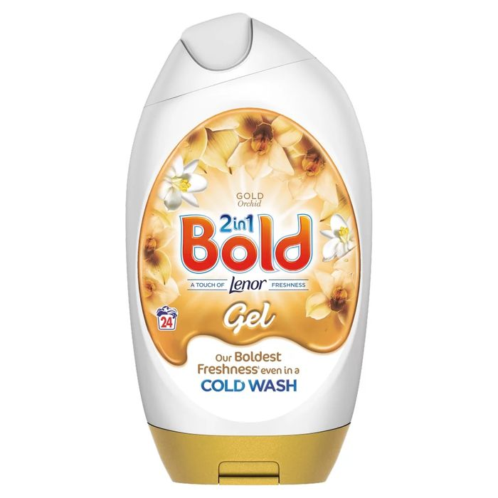 Bold 2in1 Washing Liquid Gel Gold Orchid 888ml 24 Washes0465774