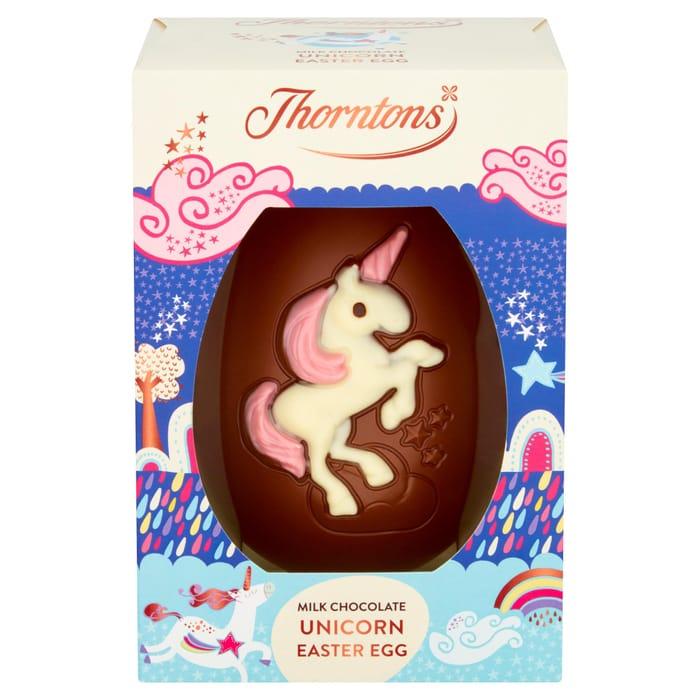 Cheap Thorntons Milk Chocolate Unicorn Easter Egg 151g, Only £2.5!
