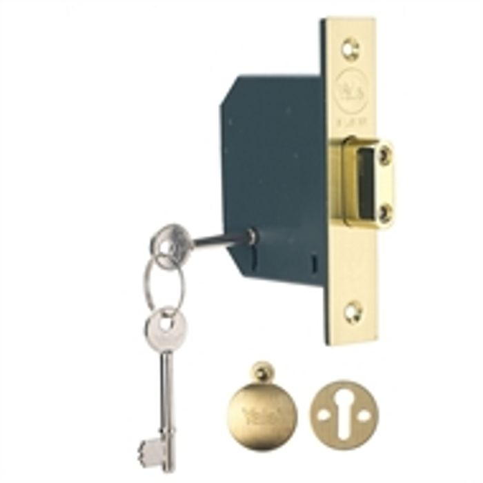 Yale PM552 5 Lever Deadlock 76mm - Brass