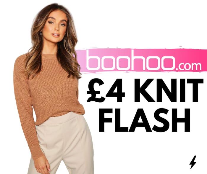 £4 Knitwear at boohoo! Flash Sale on 240 Products