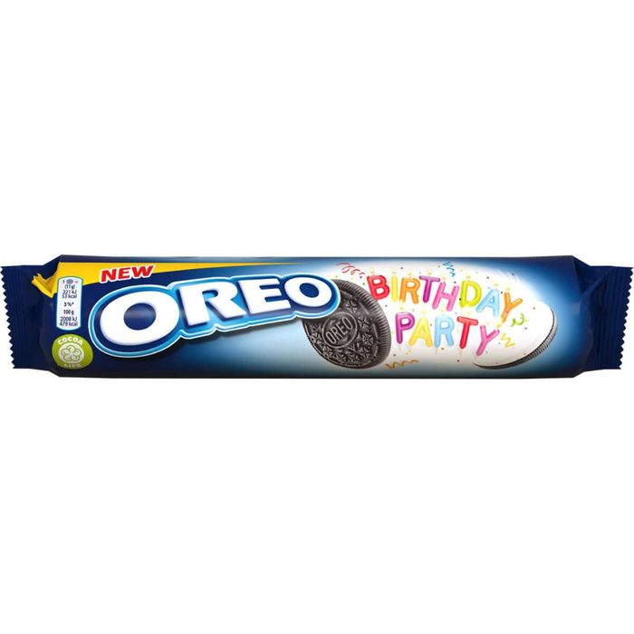 Cheap Oreo Birthday Party Biscuits (154g) on Sale From £1.08 to £0.35
