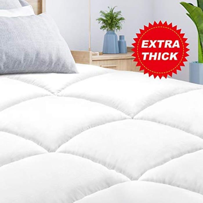 BedStory Mattress Topper Single Size, Hypoallergenic Microfiber Mattress