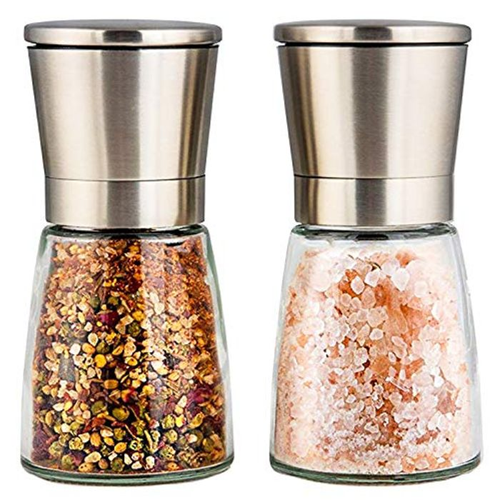 Salt and Pepper Mills with Silicon Stand