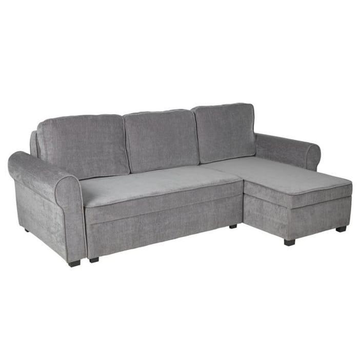 Reversible Corner Fabric Sofa Bed