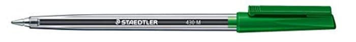Staedtler Stick 430 M-5 Ballpoint Pen Medium - Green (Box of 10)
