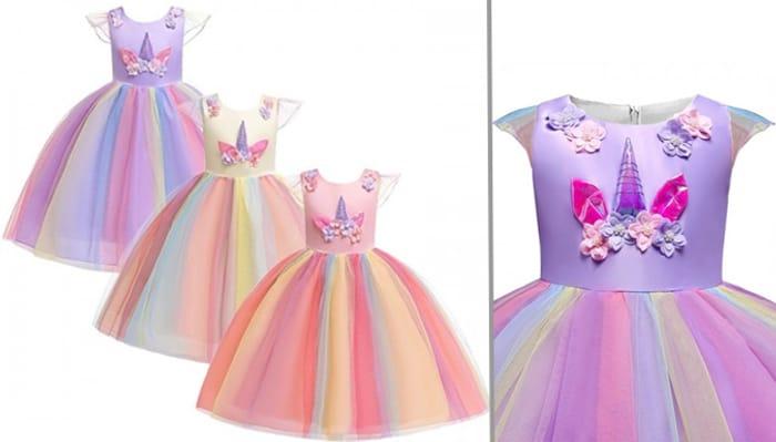 Unicorn Princess Dress - 3 Colours & 5 Sizes