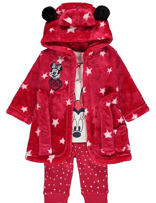 Disney Minnie Mouse Pjs and Dressing Gown