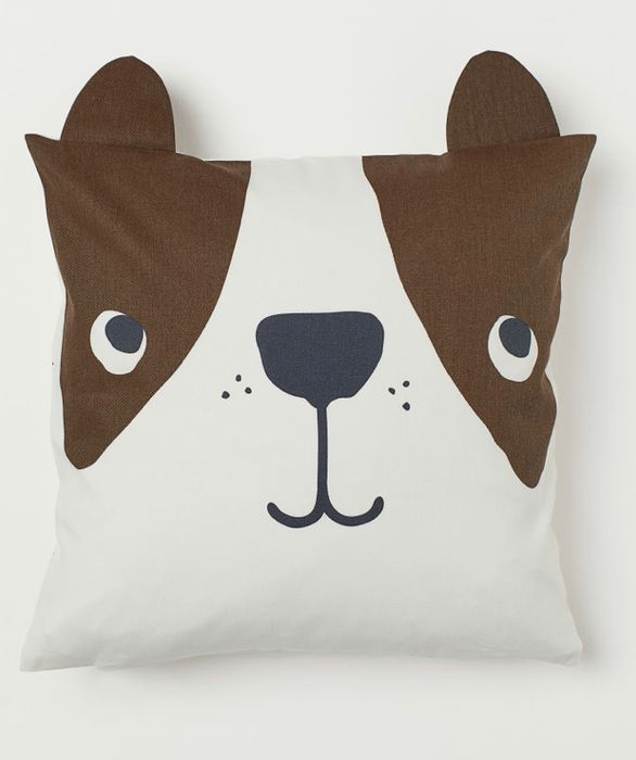 Dog Print Cotton Twill Cushion Cover, Only £2.00!