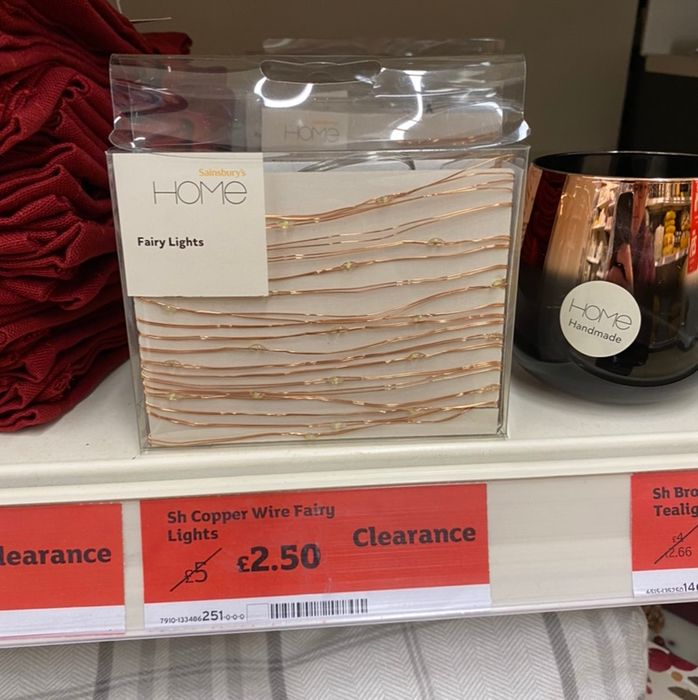 Copper Wire Fairy Lights - Half Price