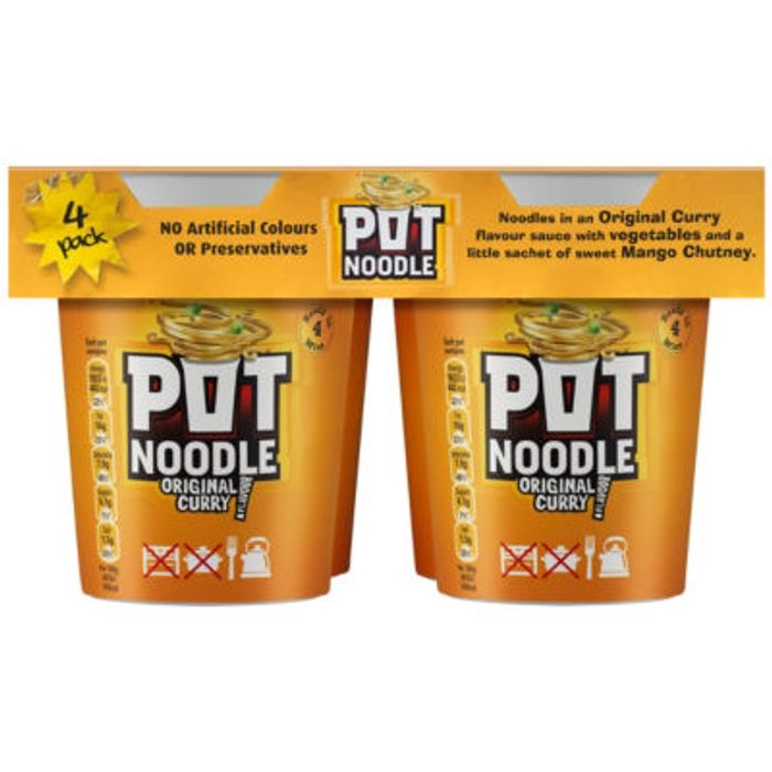 Pot Noodle 4x90g in Asda