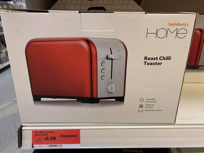 Bargain £6.50 Toaster in Sainsbury's