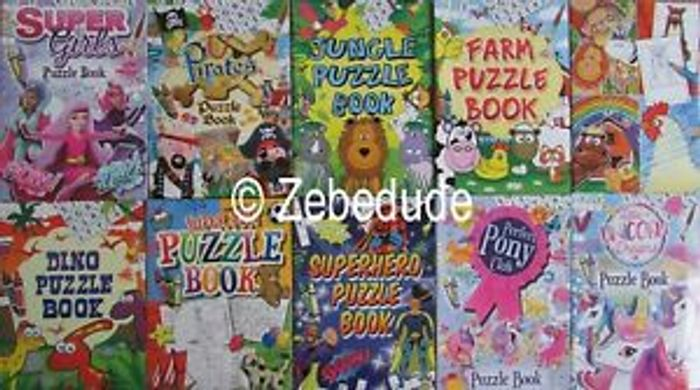 12 Pack A6 Assorted Activity Books