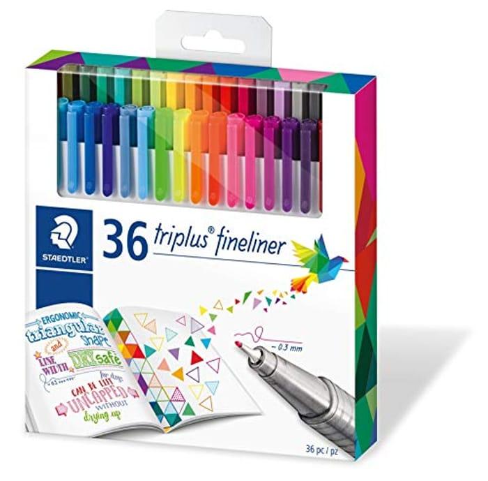 Staedtler Triplus Fineliner Superfine Point Pens, 0.3 Mm (Pack of 36)