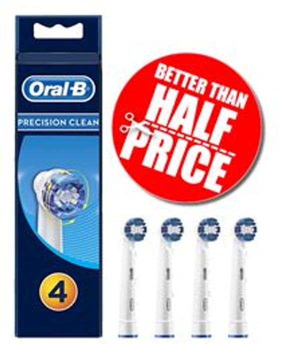 SAVE £10 - Oral-B Precision Toothbrush Heads, Pack of 4