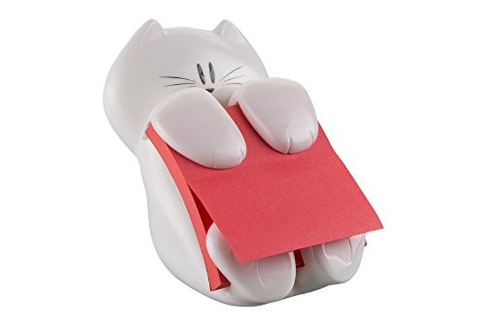 Post-It Z-Note Dispenser with Cat Design