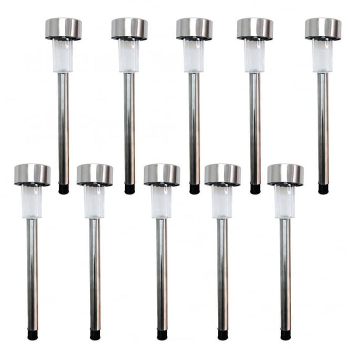 10 PK Stainless Steel Bollard Lights