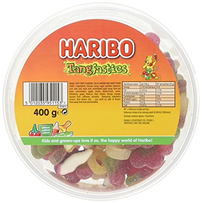 Cheap Haribo Tangfastics Sours Bulk Tub Sweets 400g, Only £2!