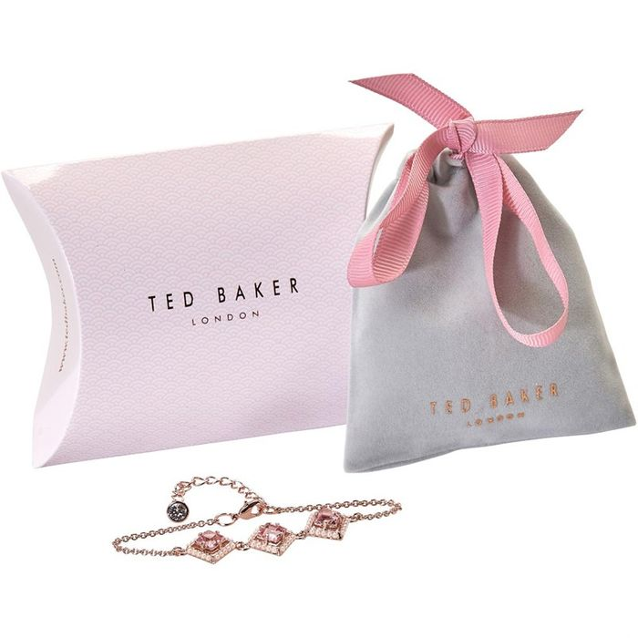 Best Price! Ted Baker Womens Papilla Pearl Frame Crystal Square Bracelet