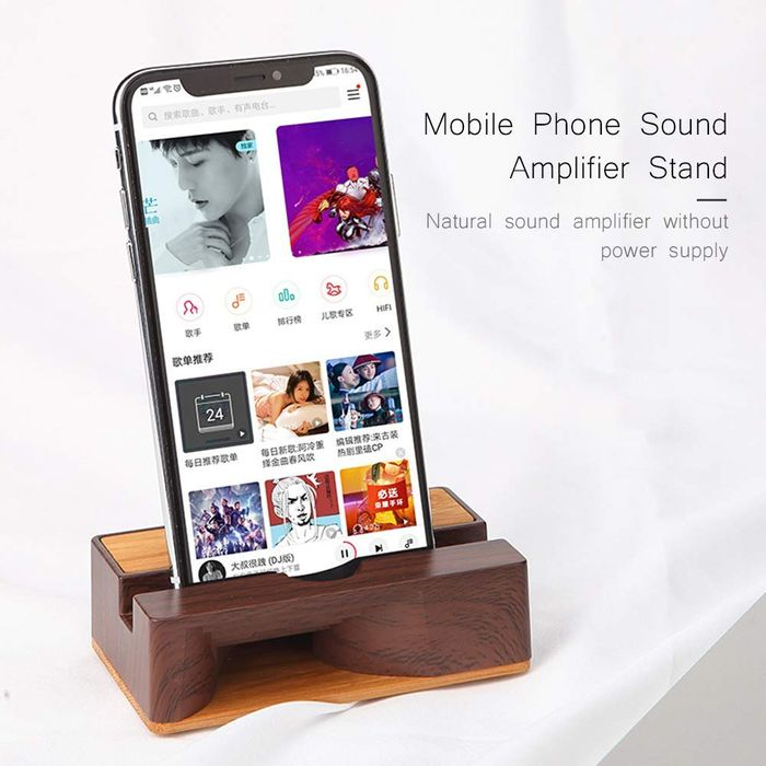 Mobile Phone Sound Amplifier Wooden Cell Phone Stand