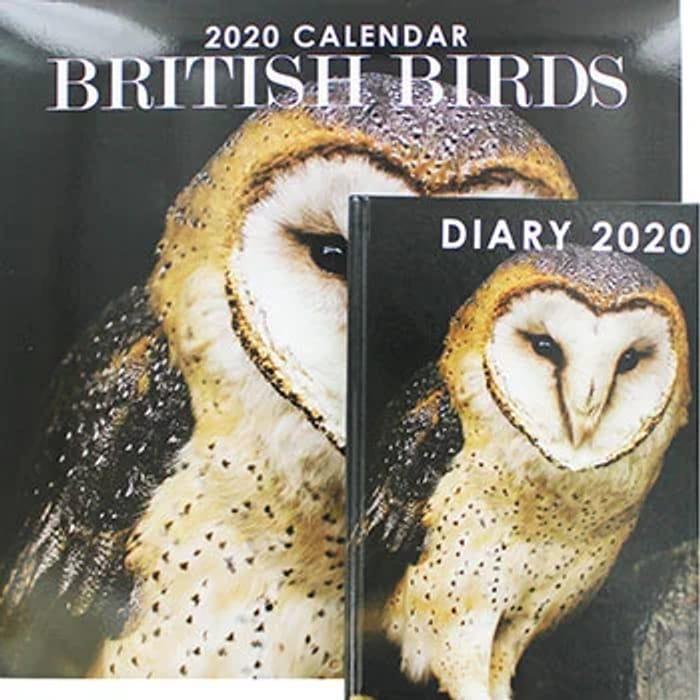 British Birds 2020 Calendar & Diary Set *A Bargain At £1.50 - HAS ONE DATE ERROR