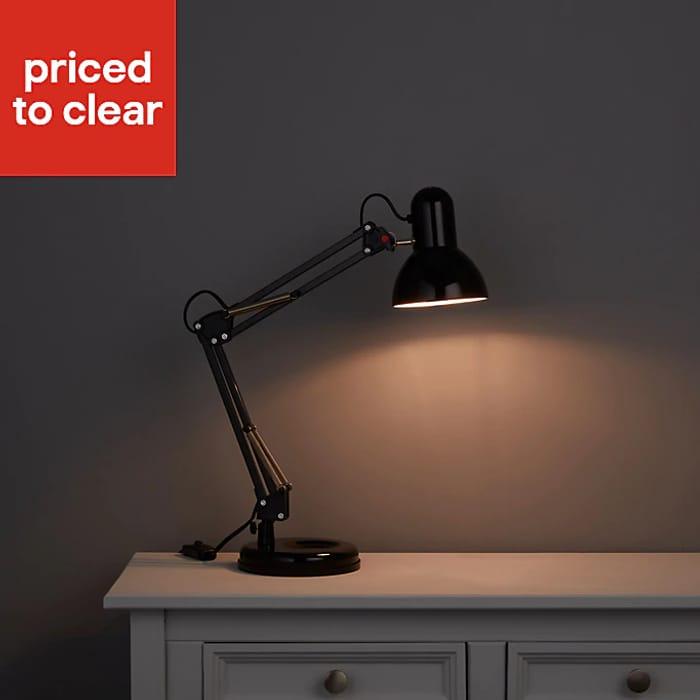 Great Value Matt Black LED Desk Lamp